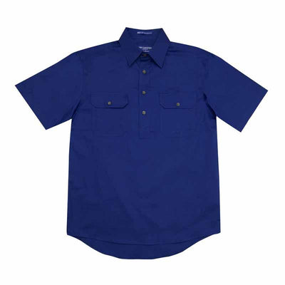 Just Country Mens Adam 1/2 Button Short Sleeve Workshirt