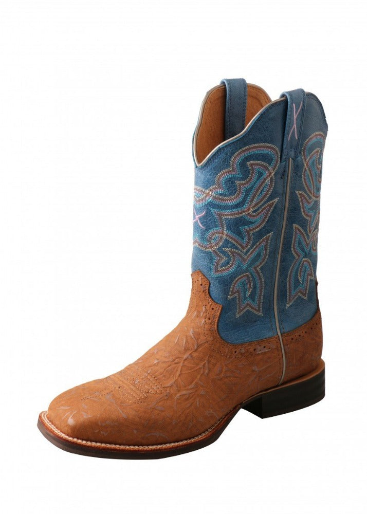 Twisted X Womens Blue Ruff Stock Top Boot