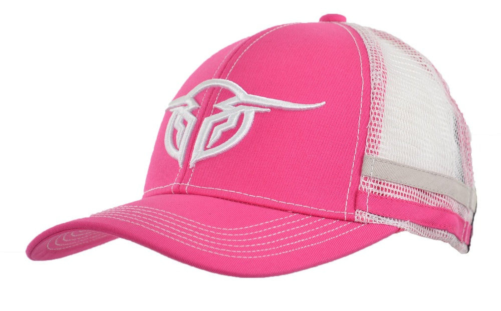 Bullzye Womens Racing Stripes Cap