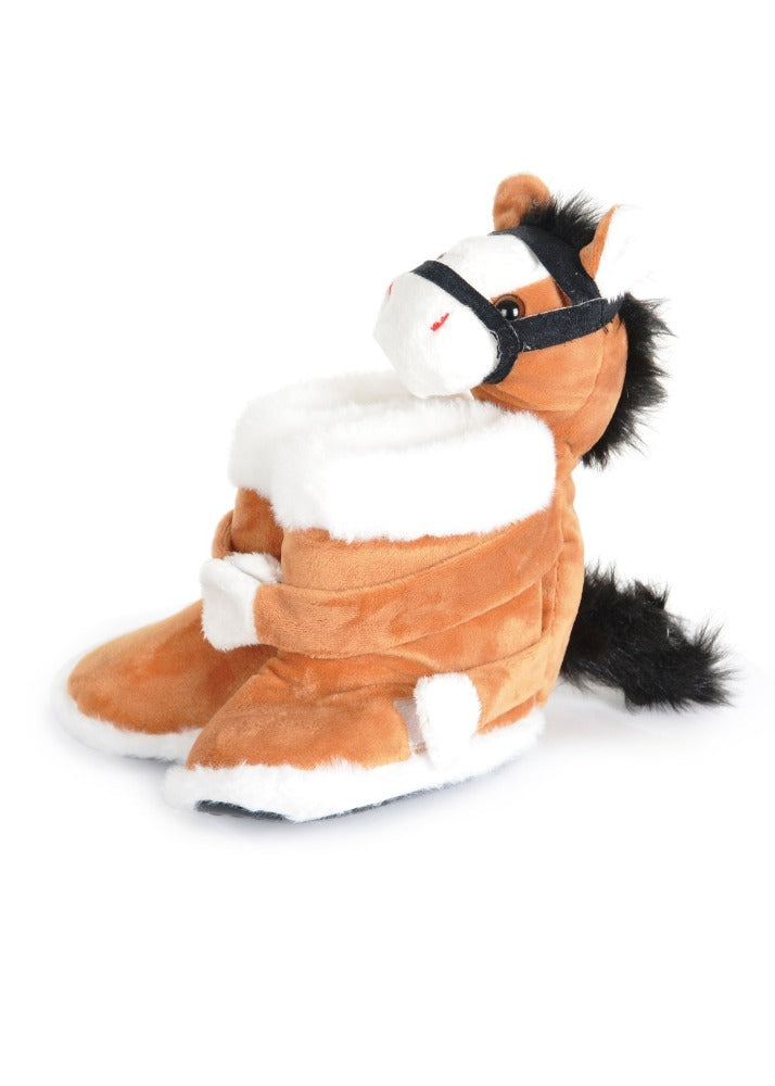 Thomas Cook Kids Fur Boot Pony Slippers