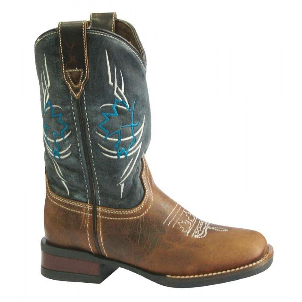 Roper Big Kids Canadian Tribe Leather Top Boot