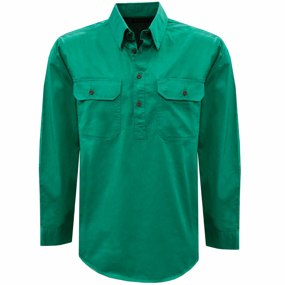 Thomas Cook Uni H/Drill 1/2 Button Workshirt