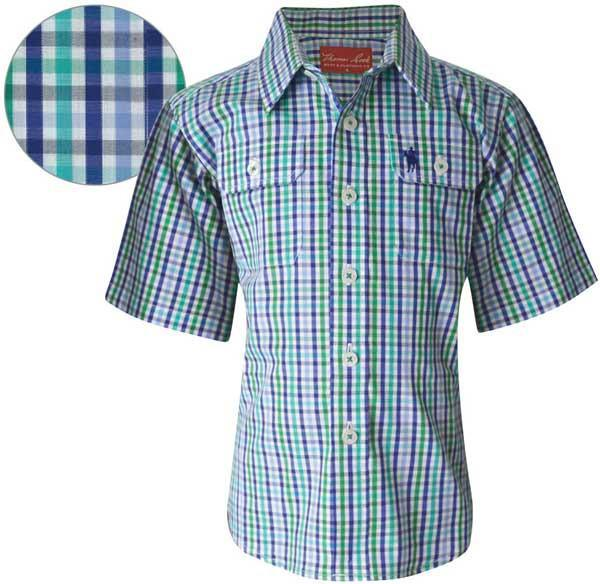 Thomas Cook Boys Bendering Check Short Sleeve Shirt