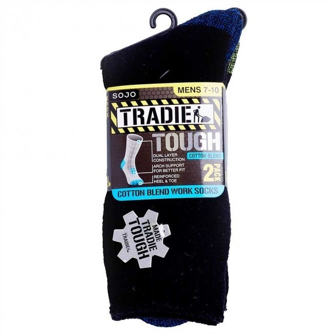 Tradie Mens Cotton 2Pk Socks