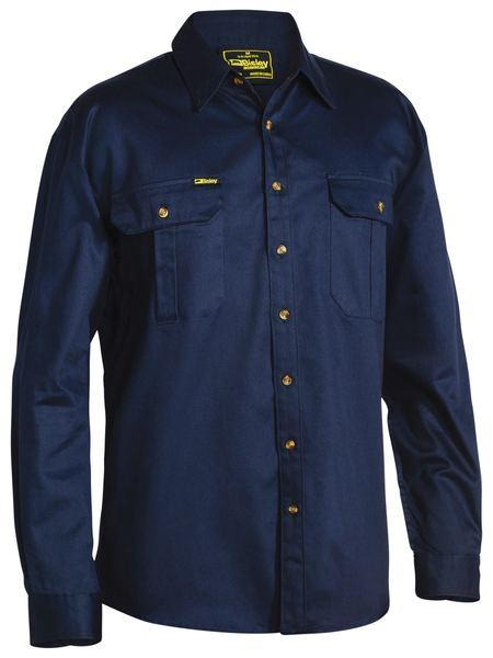 Bisley Mens Drill Full Button Workshirt