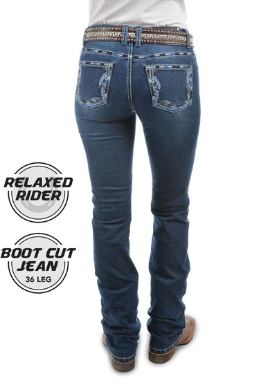 Pure Western Womens Louisiana Relaxed Rider Jean PCP2210218
