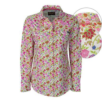 Wrangler Womens Della Print Long Sleeve Shirt