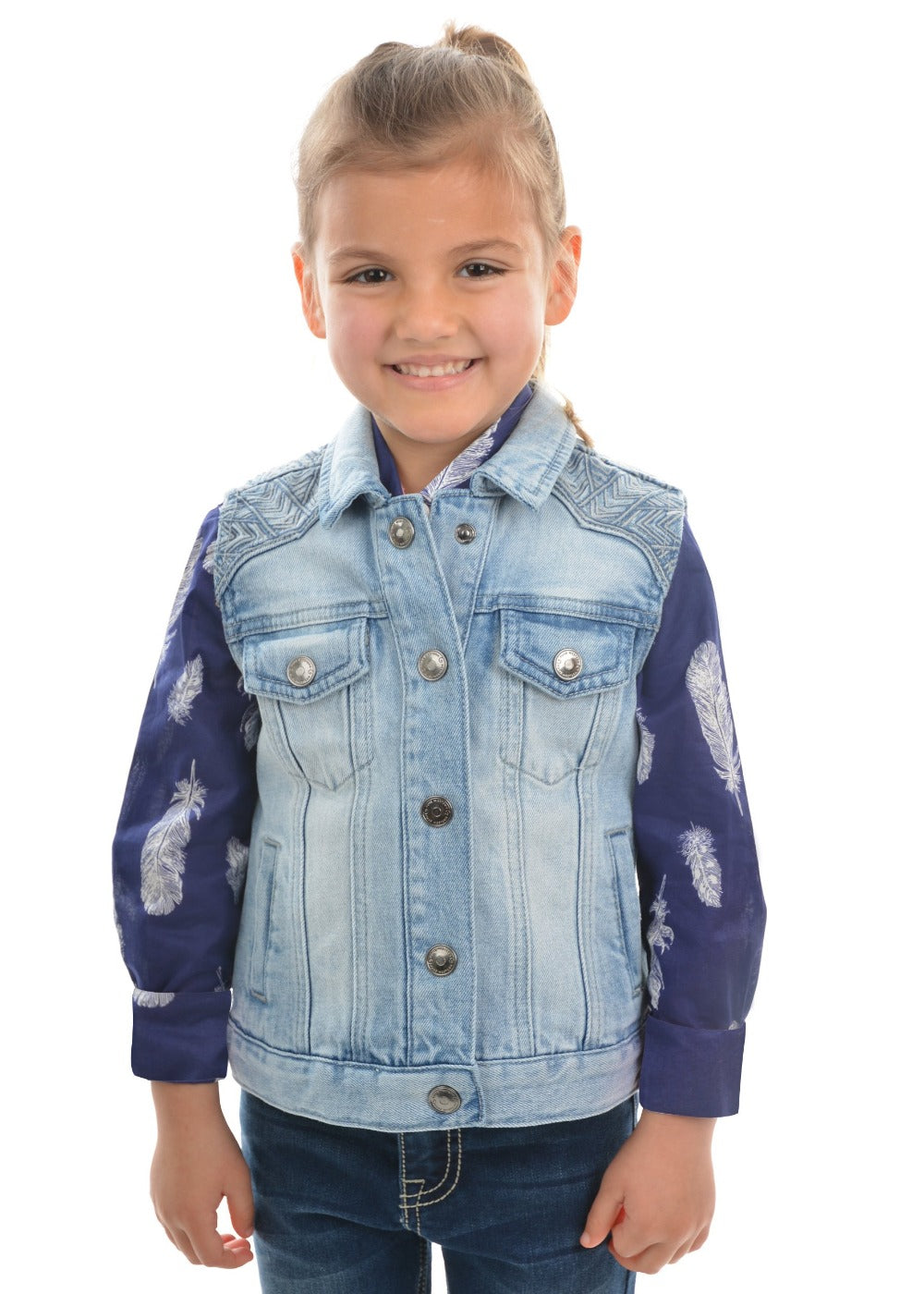Pure Western Girls Valerie Denim Vest
