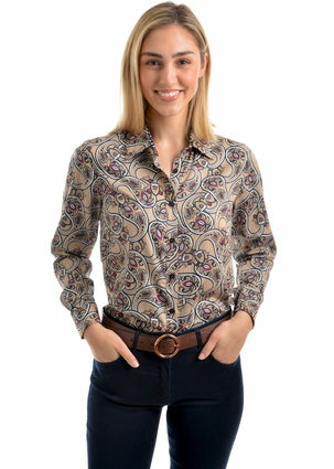 Thomas Cook Womens Melanie Print Long Sleeve Shirt