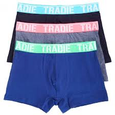 Tradie Mens Fitted 3Pk Trunk