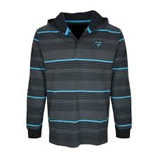 Wrangler Mens Slater Stripe Hooded Rugby