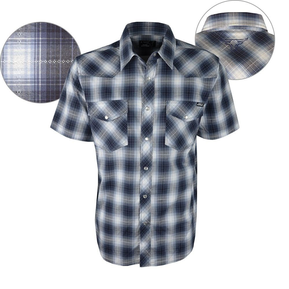 Pure Western Boys Kai Check Short Sleeve Shirt