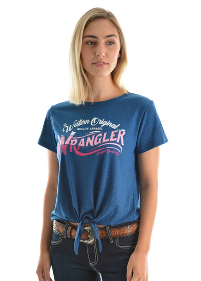 Wrangler Womens Carnie Tie Front Tee Shirt