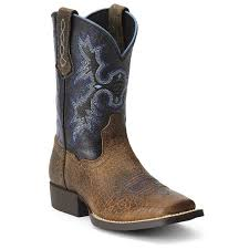 Ariat Kids Tombstone Earth Black Top Boot