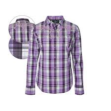 Pure Western Womens Trinity Check Long Sleeve Shirt