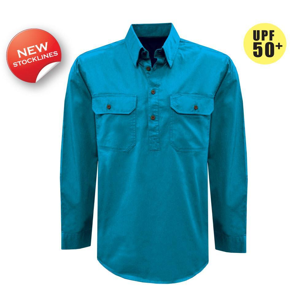 Thomas Cook Womens H/Drill 1/2 Button Workshirt