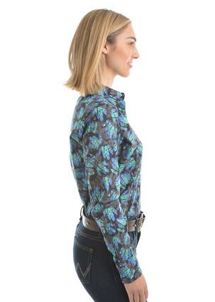 Wrangler Womens Juni Print Long Sleeve Shirt