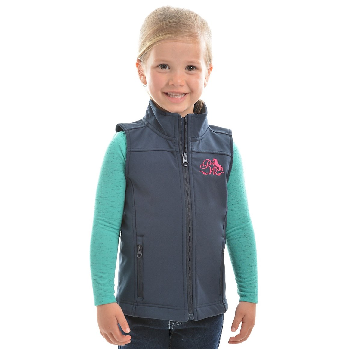 Pure Western Girls Softshell Vest