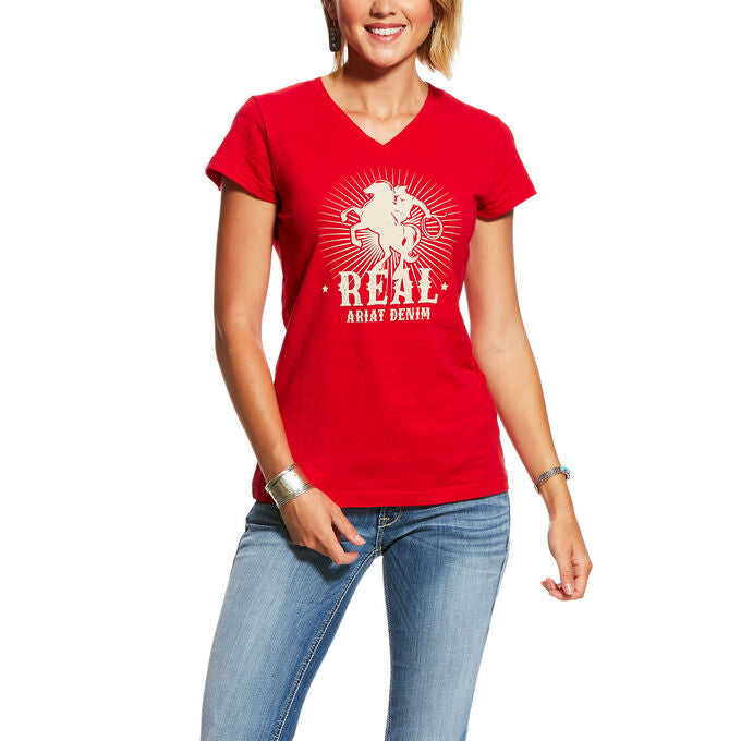 Ariat Womens Real Cowboy Tee Shirt