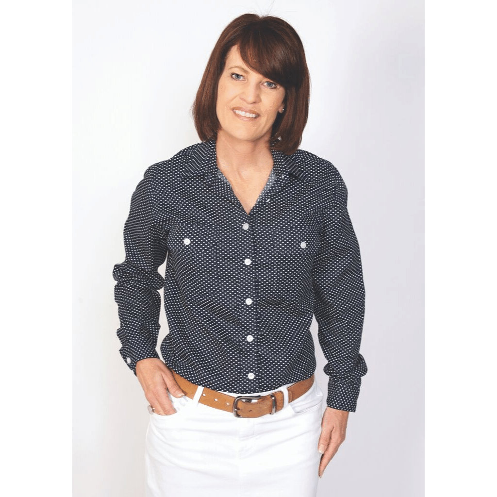 Just Country Womens Abbey Full Button Long Sleeve Shirt