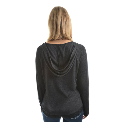 Pure Western Womens Casey Hooded Long Sleeve Top