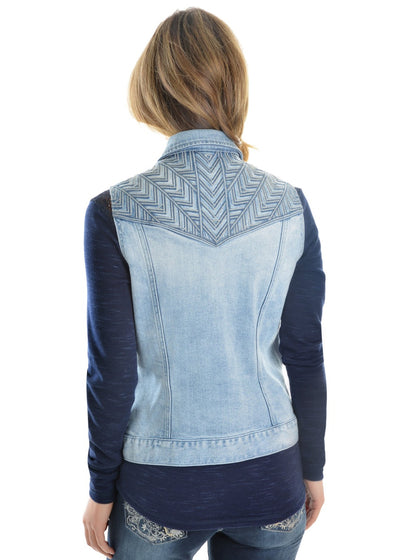 Pure Western Womens Valerie Denim Vest