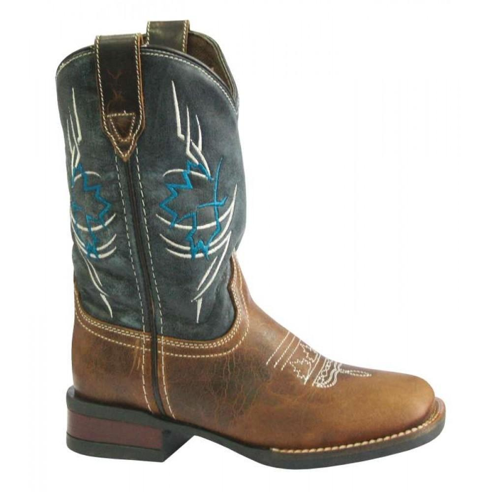 Roper Little Kids Canadian Tribe Leather Top Boot