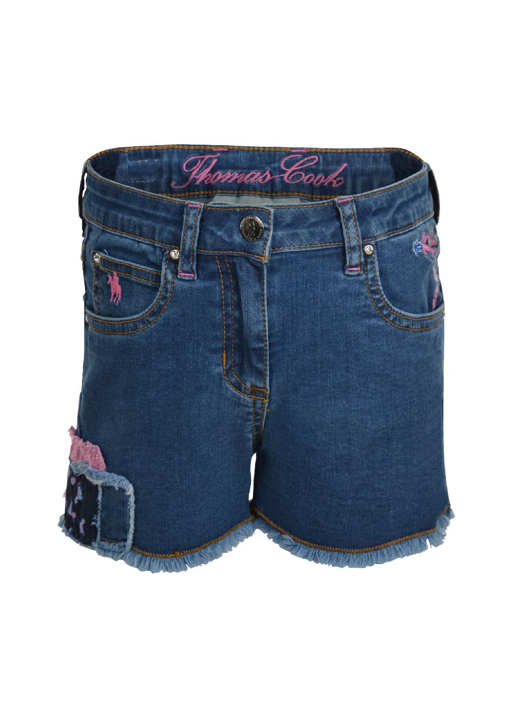 Thomas Cook Girls Patchwork Denim Shorts
