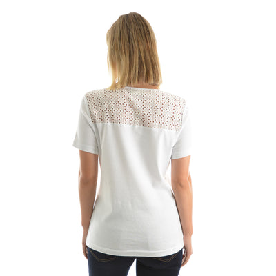 Thomas Cook Womens Broderie Yoke Top