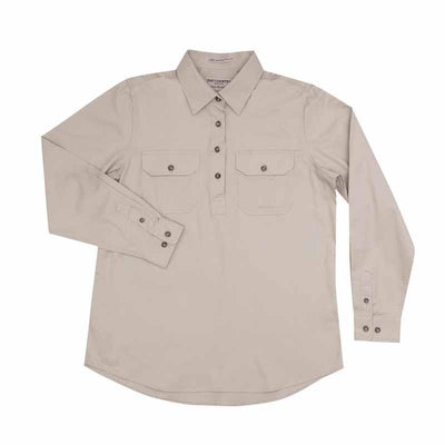 Just Country Womens Jahna 1/2 Button Workshirt