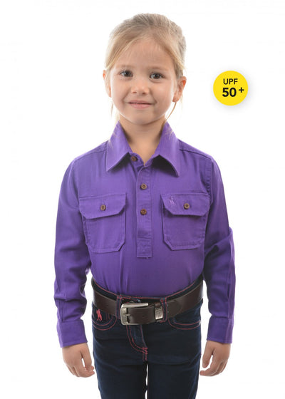 Thomas Cook Kids H/Drill 1/2 Button Workshirt