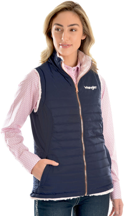Wrangler Womens Amy Reversible Quilted Vest