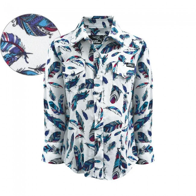 Pure Western Girls Madelyn Print Long Sleeve Shirt
