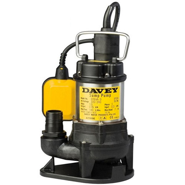 Davey Submersible Drainage Pumps Sump D15VA