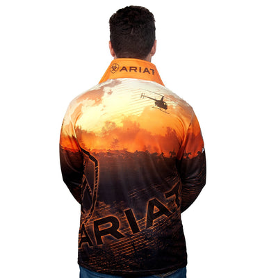 Ariat Mens Fishing Shirt Western Theme