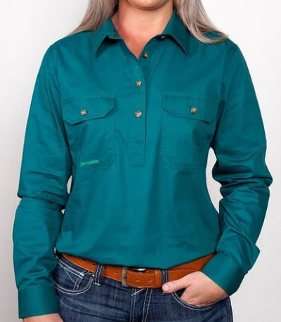 Just Country Girls Kenzie 1/2 Button Workshirt