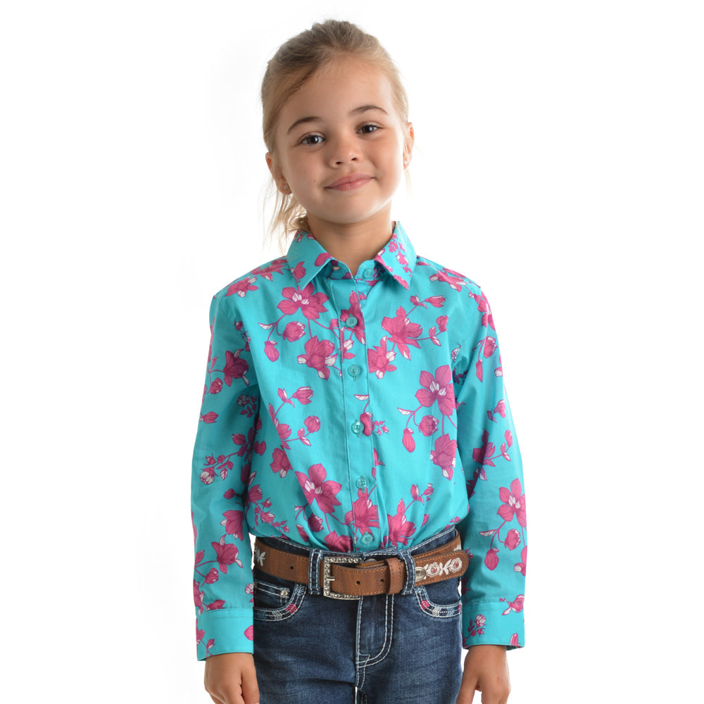 Pure Western Girls Annabelle Print Long Sleeve Shirt