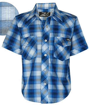 Pure Western Mens Gibson Check Short Sleeve Shirt