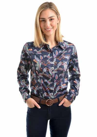 Thomas Cook Womens Ellane Print Long Sleeve Shirt
