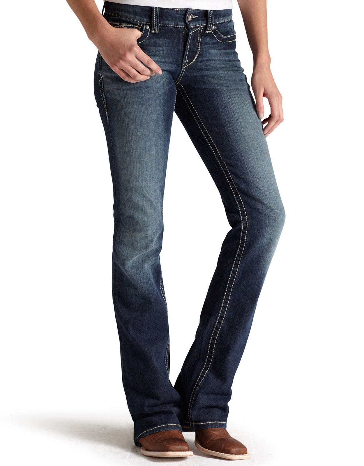 a1bacbbf2c412 Ariat Womens REAL Bootcut Riding Jean 10011683 - Clermont Agencies