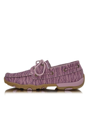 Twisted X Womens Driving Moc Purple Crinkle Lace Up Boot