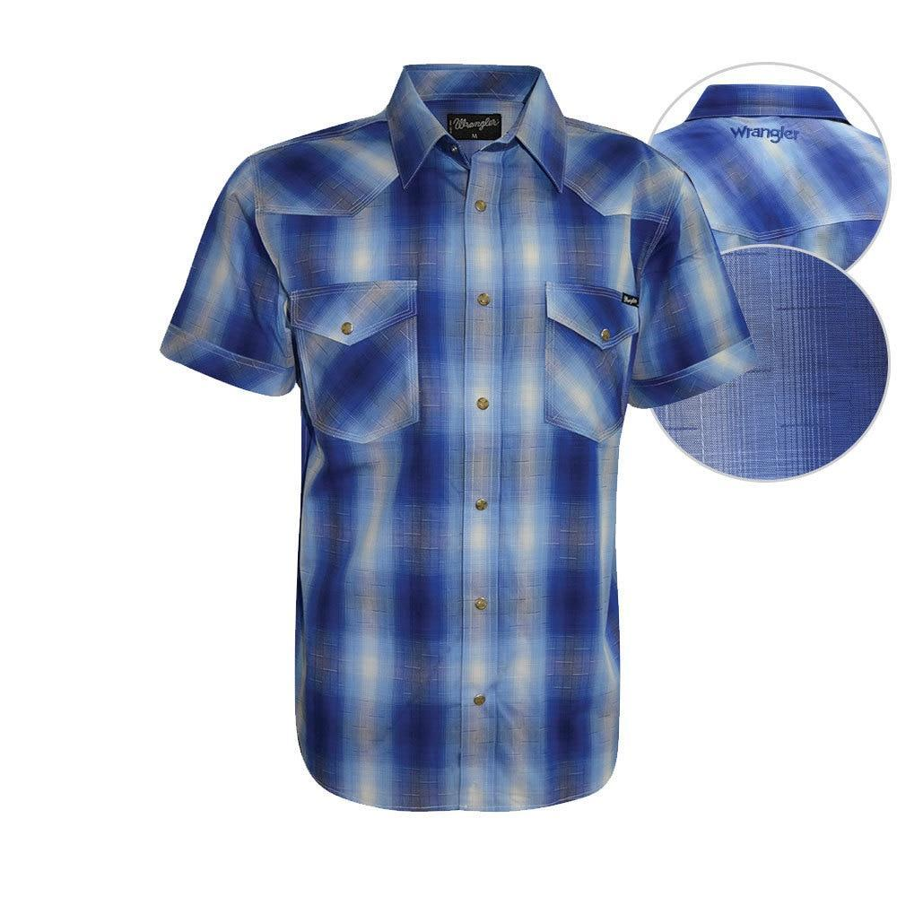 Wrangler Mens Dalby Check Short Sleeve Shirt
