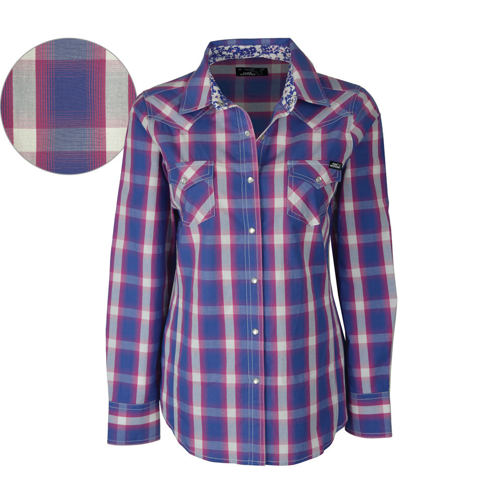 Pure Western Womens Kendall Check Long Sleeve Shirt