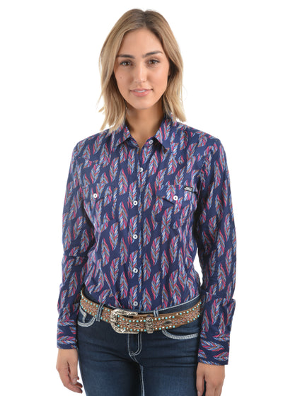Pure Western Womens Trixie Print Long Sleeve Shirt