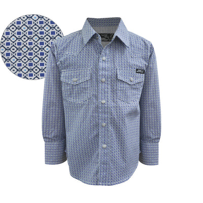 Pure Western Boys Jayden Print Long Sleeve Shirt