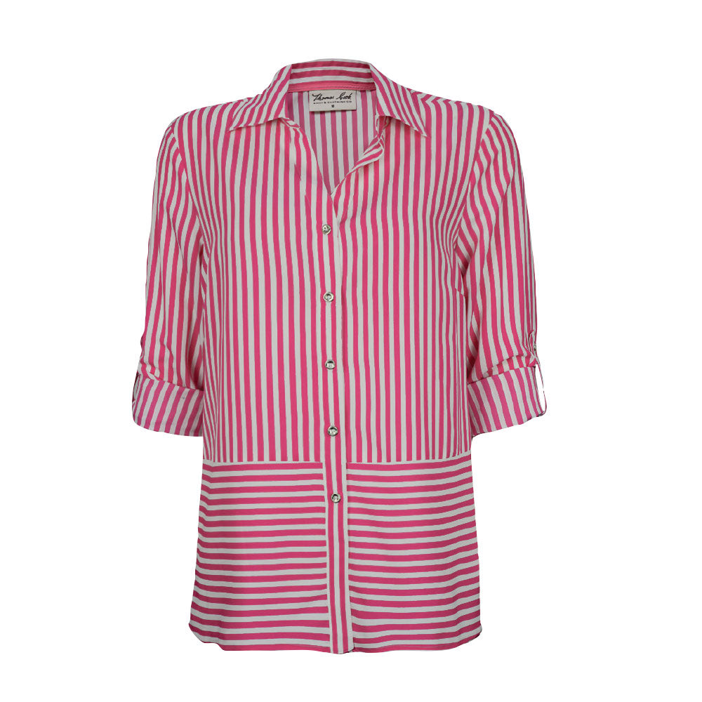 Thomas Cook Womens Riverina Stripe Long Sleeve Shirt