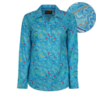 Wrangler Womens Eve Print Long Sleeve Shirt