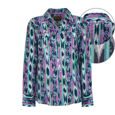 Wrangler Womens Nikita Print Long Sleeve Shirt