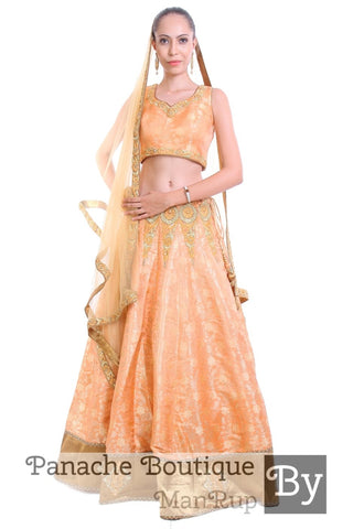 Pure Silk Brocade Lehenga Choli