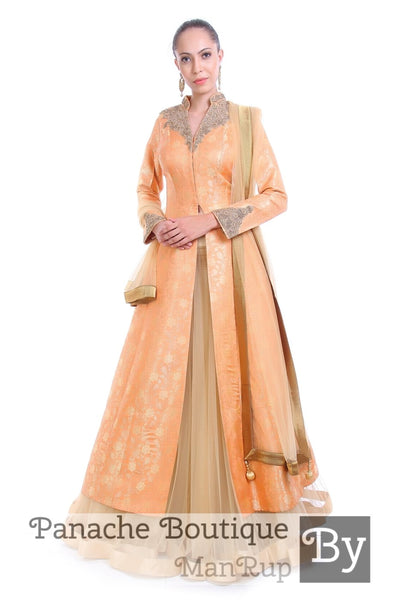 Silk Brocade Wedding Lehenga Set